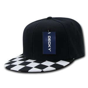 CHEQUERED BILL SNAPBACK