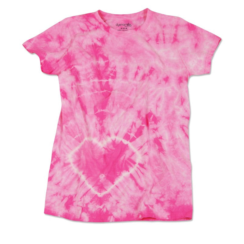 JUNIOR HEART TIE DYE T-SHIRT