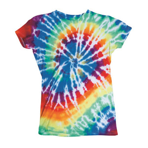 JUNIOR MULTI-SPIRAL TIE DYE T-SHIRT