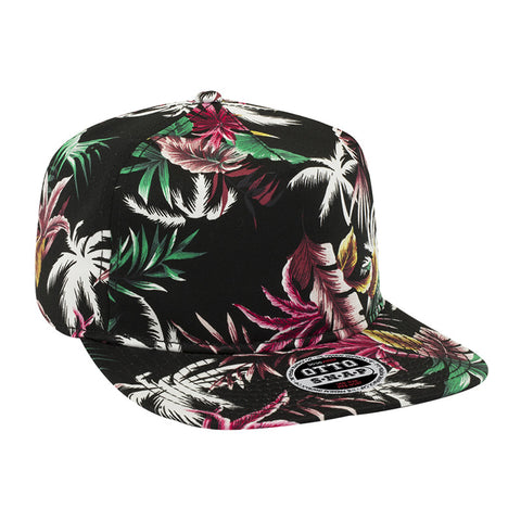 FIVE PANEL HAWAIIAN COTTON TWILL SNAPBACK CAP
