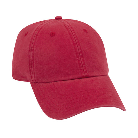 SIX PANEL GARMENT WASH COMBED COTTON TWILL CAP