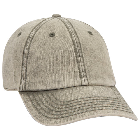 SNOW WASHED SIX PANEL COTTON TWILL CAP