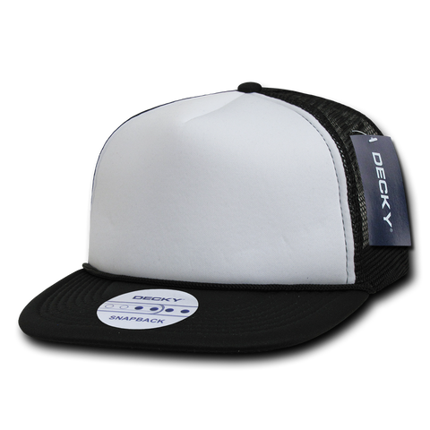 TWO TONE FLAT PEAK FOAM TRUCKER