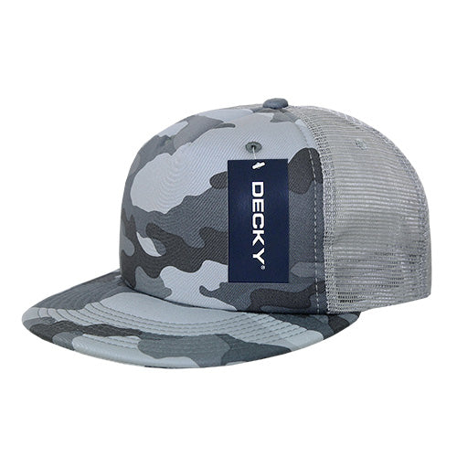 CAMO FLAT PEAK FOAM TRUCKER