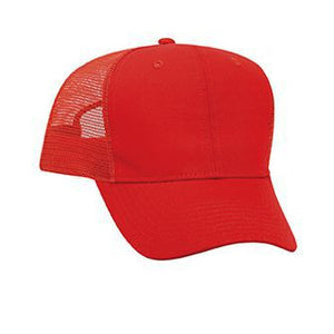 SIX PANEL PROMO COTTON TWILL MESH BACK CAP