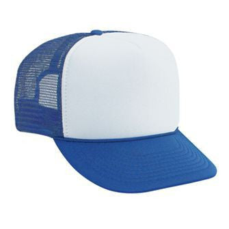 FIVE PANEL POLY FOAM GOLF MESH BACK CAP