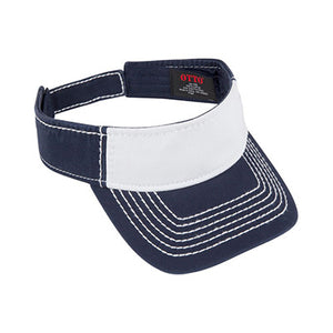 WASHED COTTON TWILL VISOR