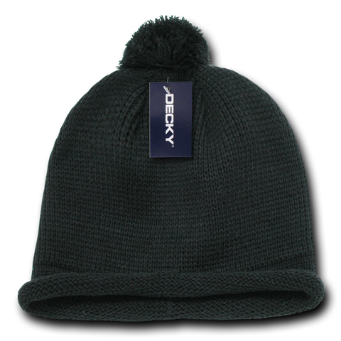 SOLID ROLL UP BEANIE