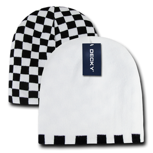 CHECKERED REVERSIBLE BEANIE