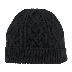 ACRYLIC CABLE KNIT BEANIE