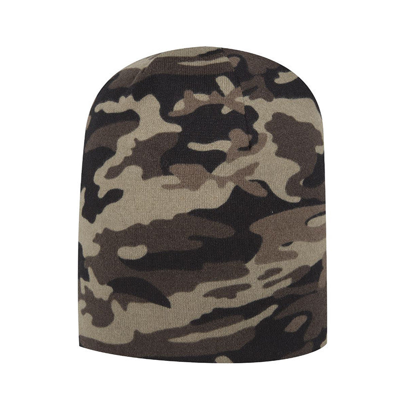 CAMOUFLAGE JERSEY KNIT BEANIE