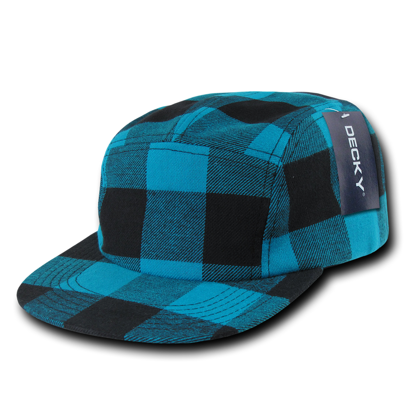FIVE PANEL PLAID RACER CAP