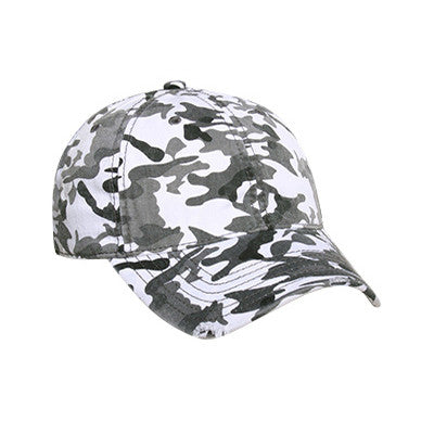 SIX PANEL CAMOUFLAGE DISTRESSED CAP