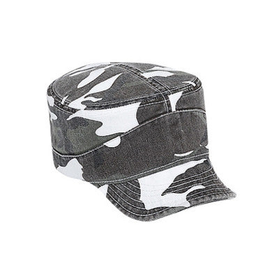 MILITARY CAP WITH BENDABLE PEAK