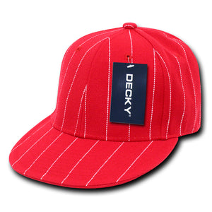 PIN STRIPE FITTED BASEBALL CAP