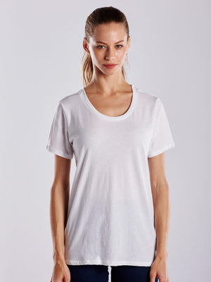 WOMEN'S SHORT SLEEVE LOOSE FIT BOYFRIEND TEE