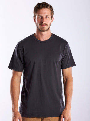 MEN'S SHORT SLEEVE CREW NECK - GARMENT DYED