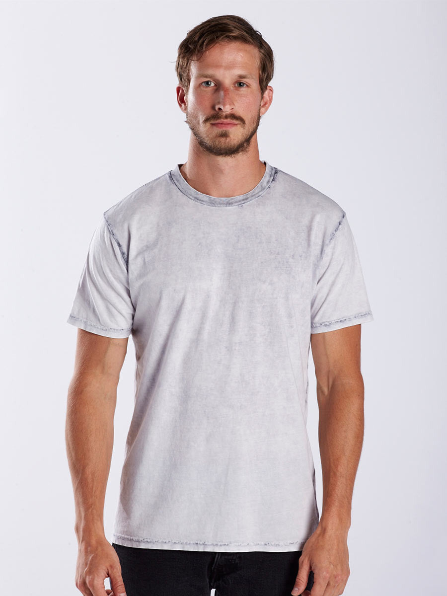 MEN'S SEAM WASH GARMENT DYED CREW