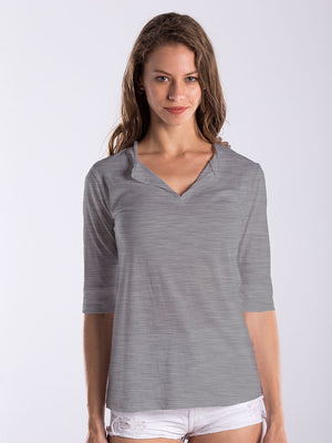 WOMEN'S ELBOW SLEEVE FOOTIE TEE