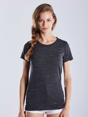 WOMEN'S SHORT SLEEVE TRI-BLEND CREW