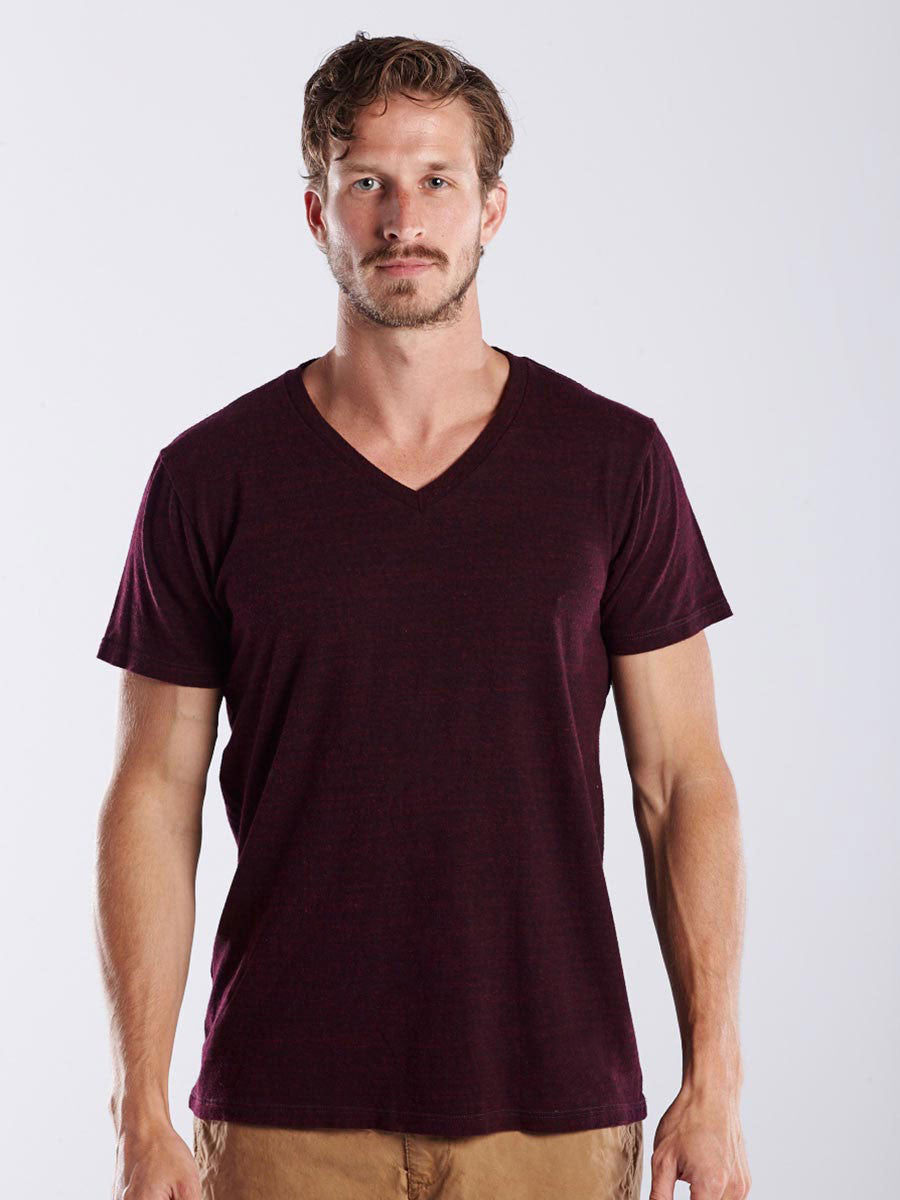 MEN'S SHORT SLEEVE V-NECK - OVERDYED