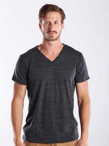 MEN'S SHORT SLEEVE TRI-BLEND V-NECK