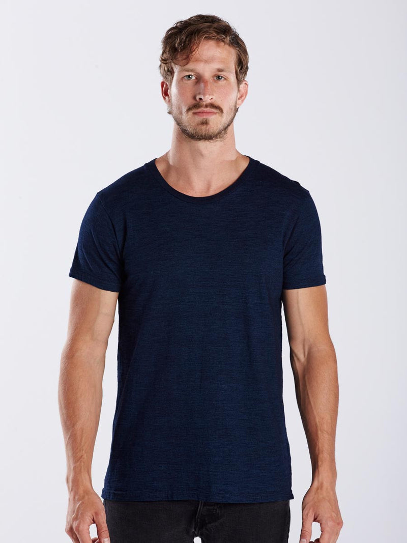 MEN'S TRUE INDIGO CREW
