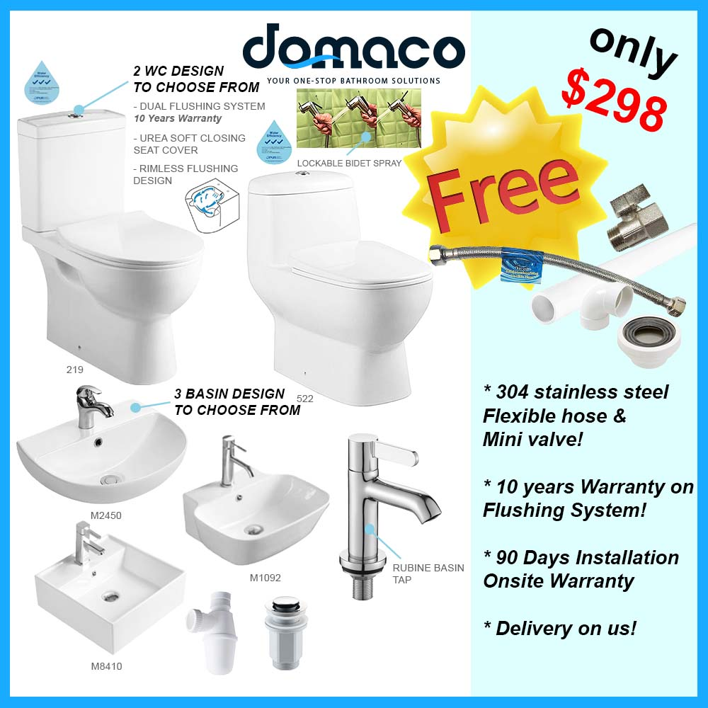 Economy Class Toilet Bowl & Basin Package