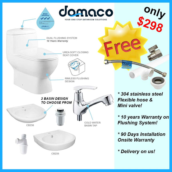 Savvy Package Toilet Bowl and Basin domaco.com.sg