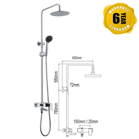 NTL Rain Shower Mixer 1003 (27880)<br>*Contact us for best price - Domaco