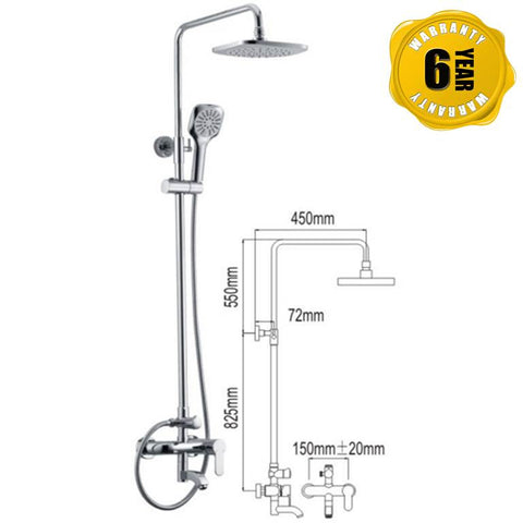 NTL Rain Shower Mixer 1006 (26290)<br>*Contact us for best price - Domaco