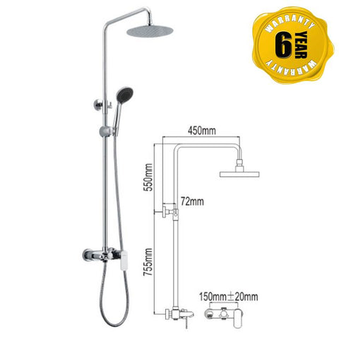 NTL Rain Shower Mixer 1007 (27580)<br>*Contact us for best price - Domaco