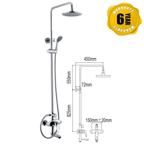 NTL Rain Shower Mixer 1011 (26480)<br>*Contact us for best price - Domaco
