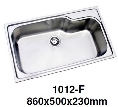 ENGLEFIELD 1012-F 0.9mm Handmade S/Steel Kitchen Sink - Domaco