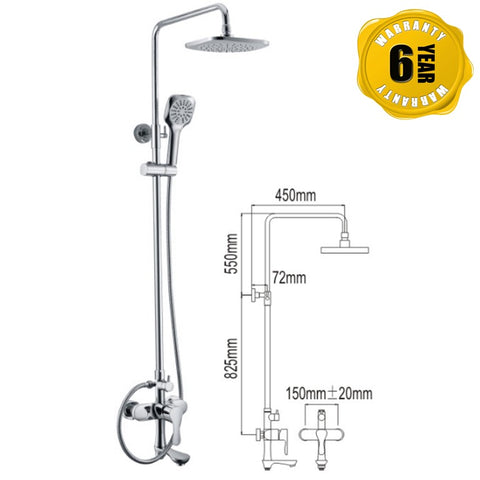 NTL Rain Shower Mixer 1012 (27780)<br>*Contact us for best price - Domaco