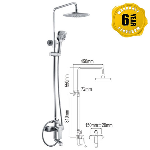 NTL Rain Shower Mixer 1013 (26480)<br>*Contact us for best price - Domaco