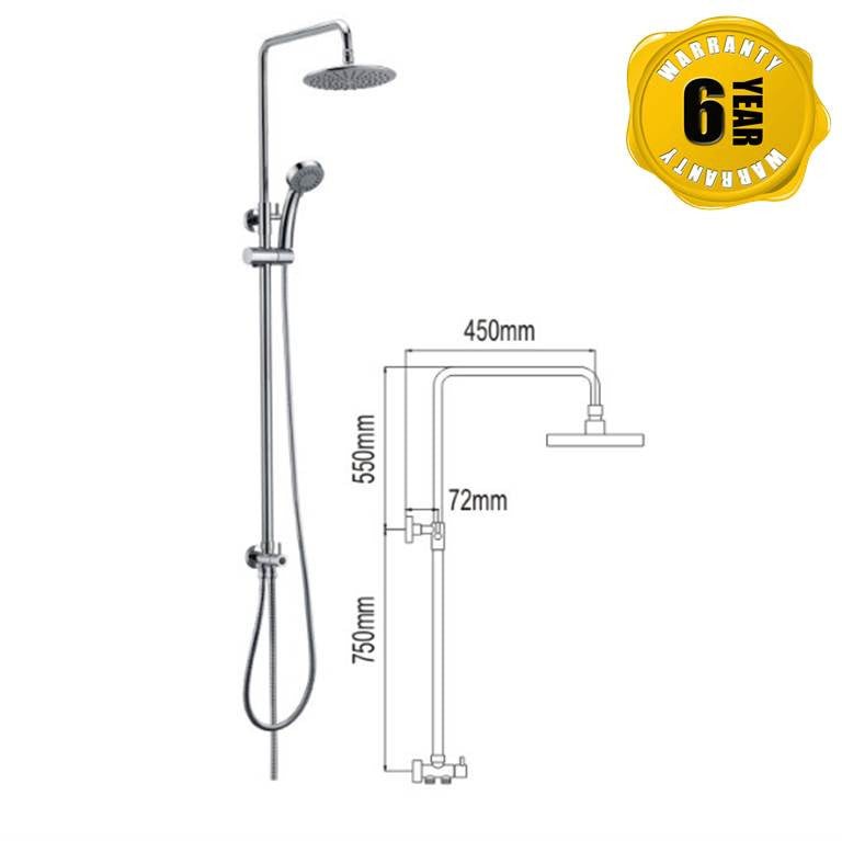 NTL Rain Shower 1014 (15880)<br>*Contact us for best price - Domaco
