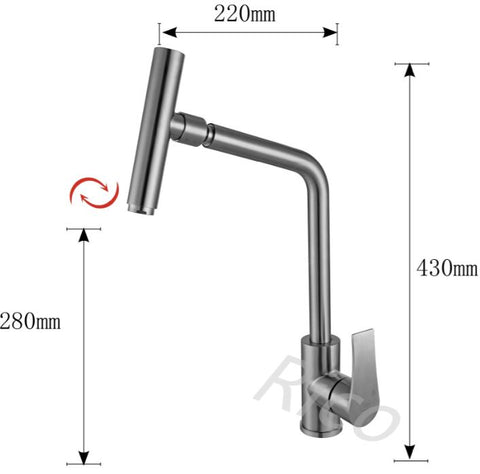 RICO 30403-1A STAINLESS STEEL SINK MIXER TAP (12800)<br>*Contact us for best price - Domaco
