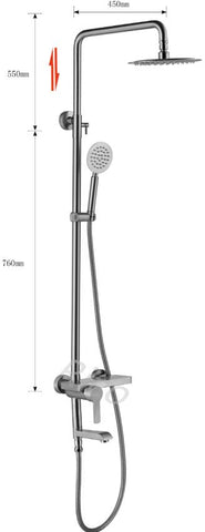 RICO 30407-1 STAINLESS STEEL RAIN SHOWER MIXER (36800)<br>*Contact us for best price - Domaco