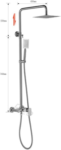 RICO 30407-2 STAINLESS STEEL RAIN SHOWER MIXER (32800)<br>*Contact us for best price - Domaco
