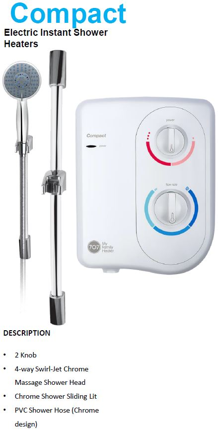707 Compact Instant Water Heater (18280)<br>*Contact us for best price - Domaco