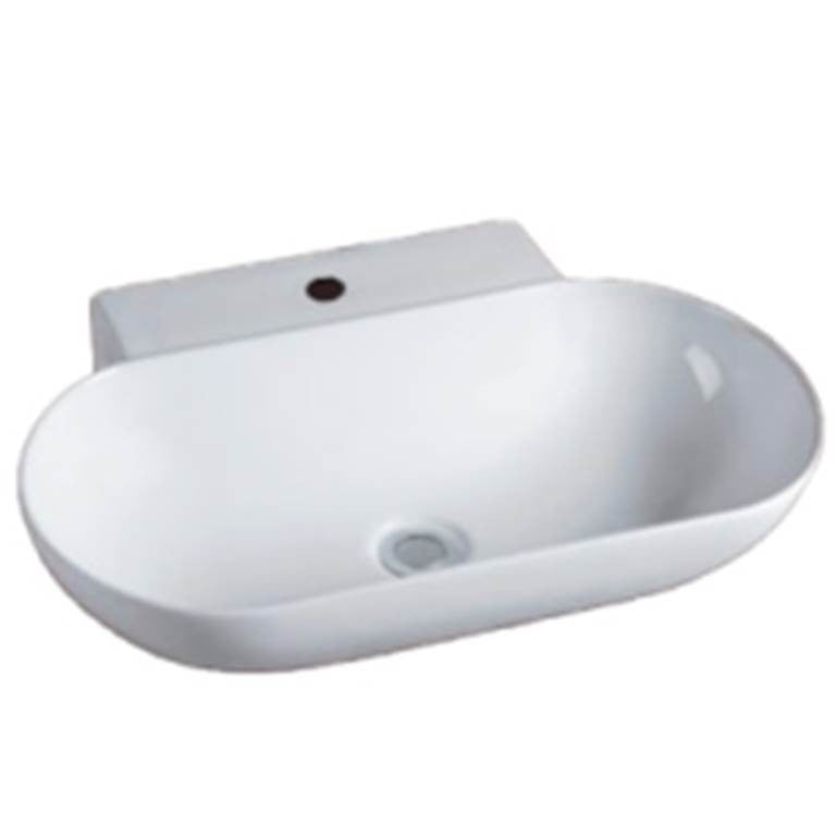 Baron Designer Basin A171 - TOP Mount / Wall Hung - Domaco