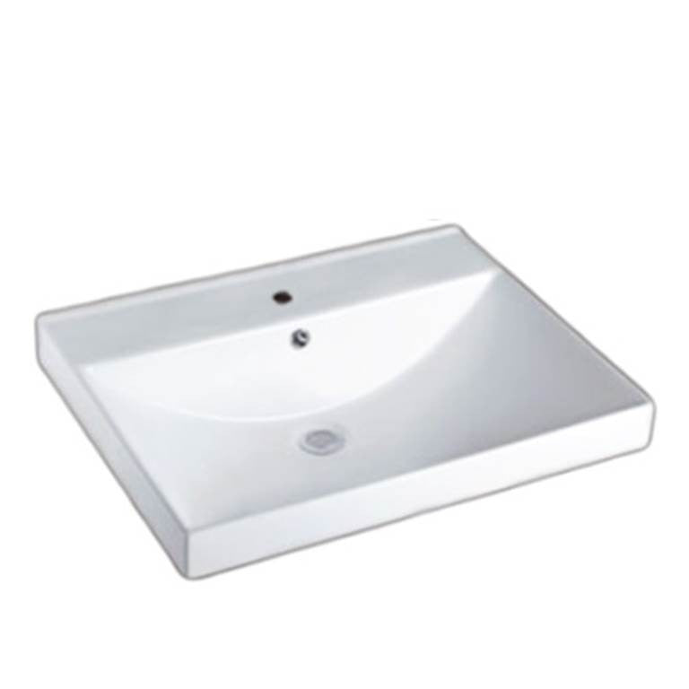 Baron Designer Basin A176 - TOP Mount/ Wall Hung - Domaco