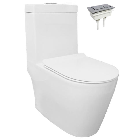 Velin 1-Piece Toilet Bowl A3390 (Geberit Flushing System) (30800)<br>*Contact us for best price - Domaco