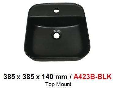 BARON A423-B BLACK TOP MOUNT BASIN (8800) *Contact us for best price - Domaco