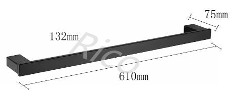 RICO B1011-B SINGLE TOWEL BAR (4980)<br>*Contact us for best price - Domaco