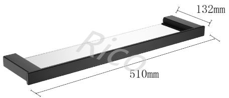 RICO B109-B SINGLE GLASS SHELF (7480)<br>*Contact us for best price - Domaco