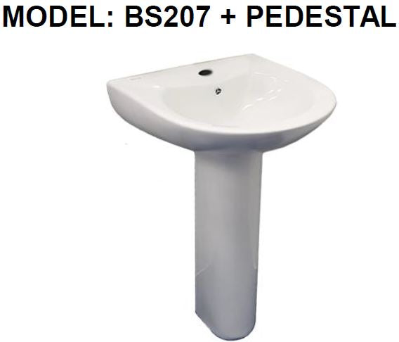 BARON BS207 BASIN WITH STAND - Domaco