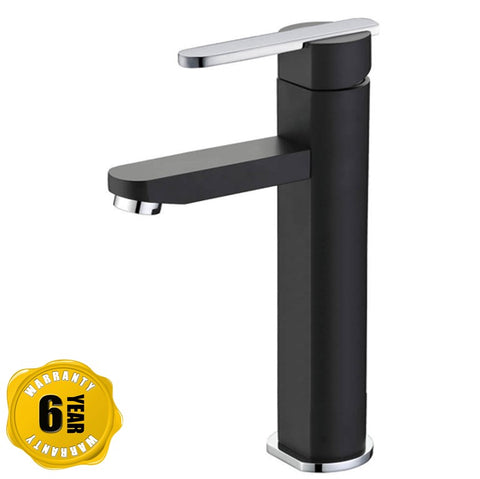 NTL Tall Basin Mixer Tap 2002B or 2002W (Black or White) (17800)<br>*Contact us for best price - Domaco