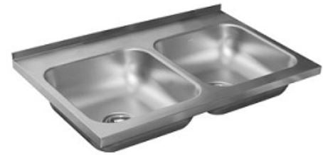Elkay CACM-110 Wallmount Stainless Steel Kitchen Sink - Domaco
